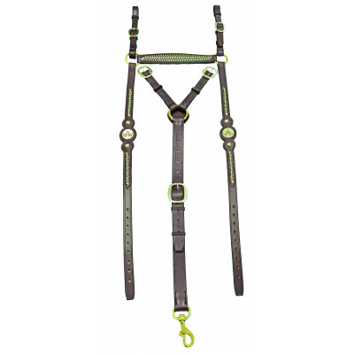 Breastplate Stockmans ASH- Round Braided