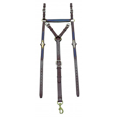 Breastplate Stockmans ASH- Octagonal Braided