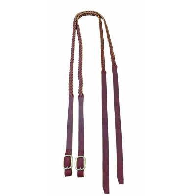 Reins Redhide secret plait Split